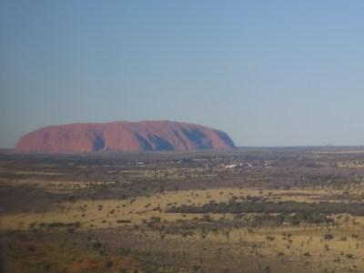 View Uluru plane
