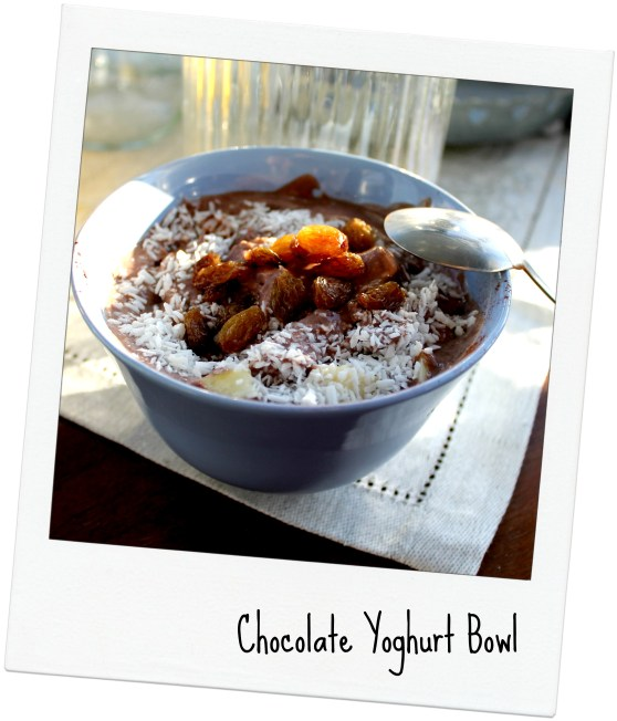 chocolate Yoghurt bowl