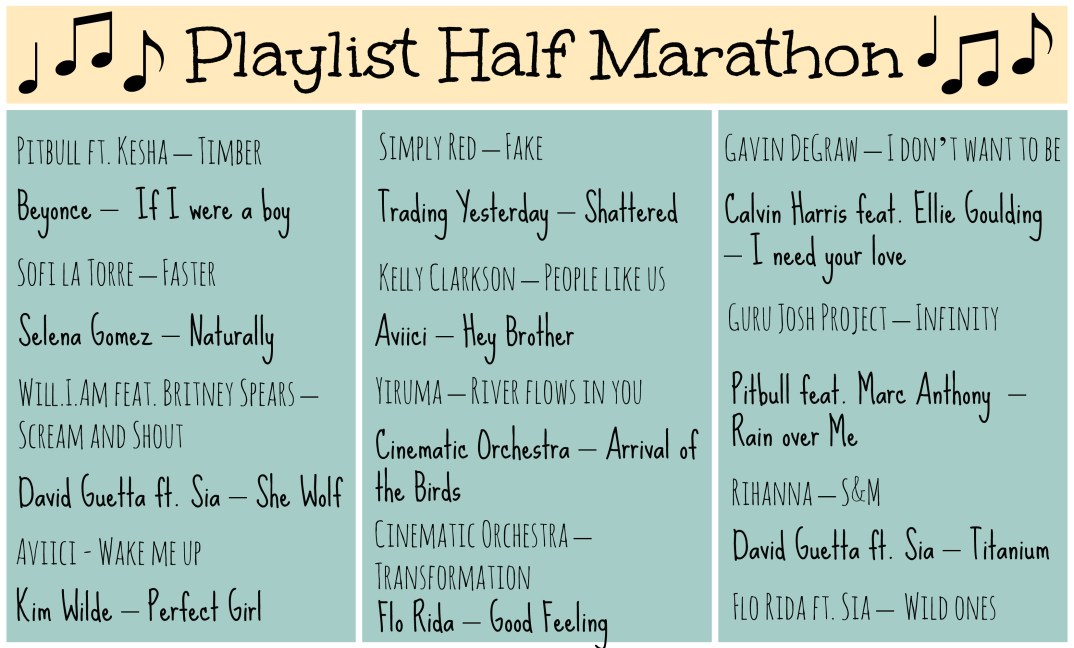 Playlist Half-Marthon