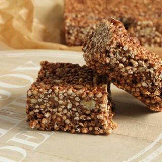 Hazelnut Quinoa Bars