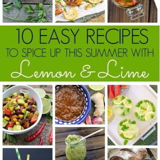 summer recipe round up with lemon and lime green