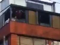 ドラッグを吸った男、海だと思って窓から美しくダイブしてしまう。