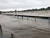 京都の桂川さん堤防を越える。(動画)日吉ダム頑張ってえええええ!