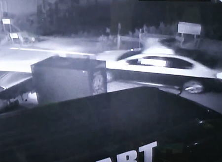 山形県で起きた一時停止無視のパトカーが人身事故を起こす監視カメラ映像。