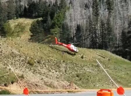 怪我人を助けに来た救助ヘリコプターが着陸に失敗してあああああ。