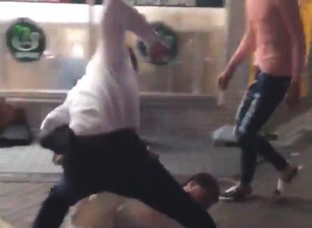 名古屋駅で撮影されたDQN同士のフルボッコ喧嘩の映像がヤバい(@_@;)