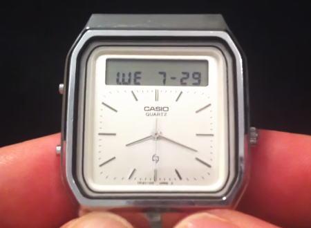 カシオの1984年製タッチスクリーン電卓付き腕時計Casio AT-552がカッコイイ!