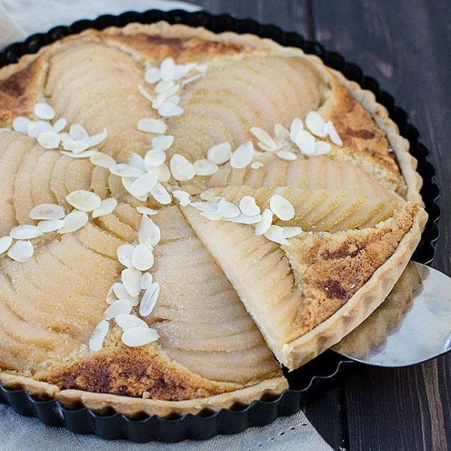New recipe on the blog! Delicious French almond tart withhellip
