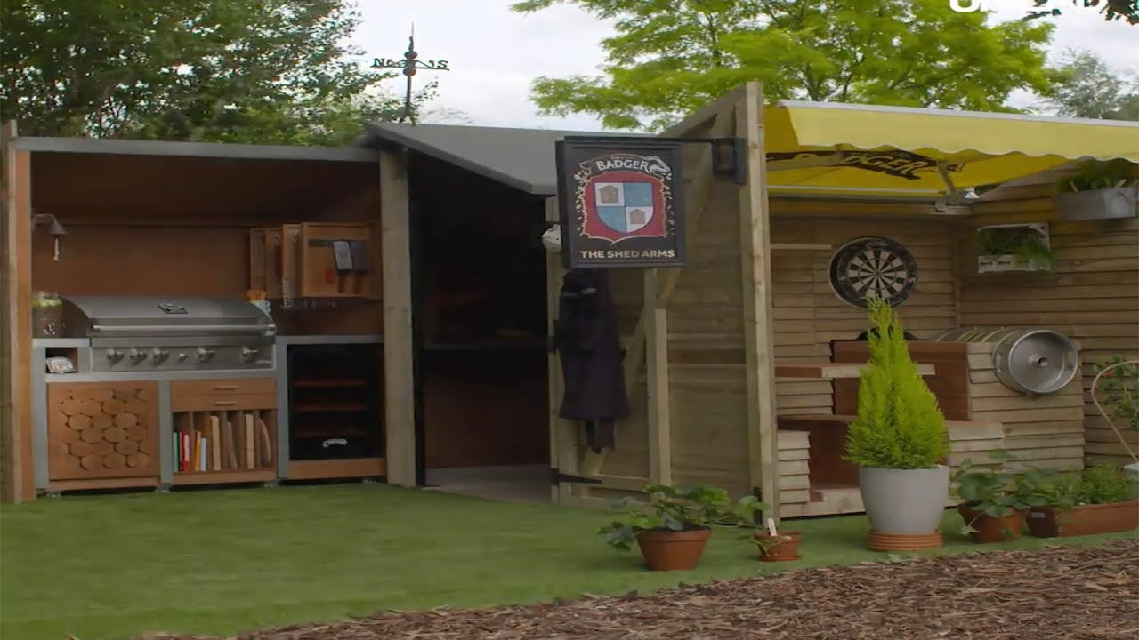 Gray Move Over Man Cave Helloooo Bar Eagle Man Cave Shed Ideas Uk Man Cave Shed Accessories houzz 01 Man Cave Shed