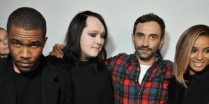 Givenchy creative director Riccardo Tisci, second from right, with singers Frank Ocean, Antony Hegarty and Ciara at the Fall/Winter 2013 women's ready-to-wear show.