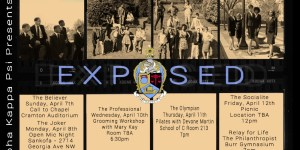 "A flyer for ""Exposed"" week."