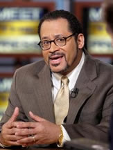 Michael Eric Dyson focuses on social justice in sermon for students.