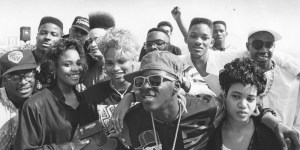 Rap stars gather at the 1989 Boycott the Grammys party.