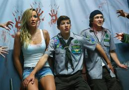 Halston Sage, Tye Sheridan and Logan Miller star in Scouts Guide to the Zombie Apocalypse