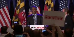 After reassuring supporters in Baltimore that we would stay in the race, Dr. Ben Carson announces the next day that he's bowing out of the GOP debate.