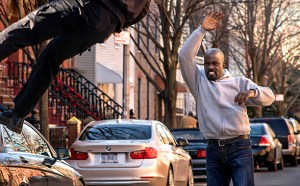 """it's important for him to be a black superhero — not a superhero who happens to be blacks,"" says Cheo Hodari Coker, executive producer of ""Luke Cage,"" shown in a scene from the ninth episode."