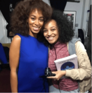 YouTuber Kiara Nelson froze, got lightheaded and even cried when she met Solange Knowles.