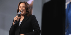 """Justice is on the ballot,"" Sen. Kamala Harris , D-Calif., tells student journalists."