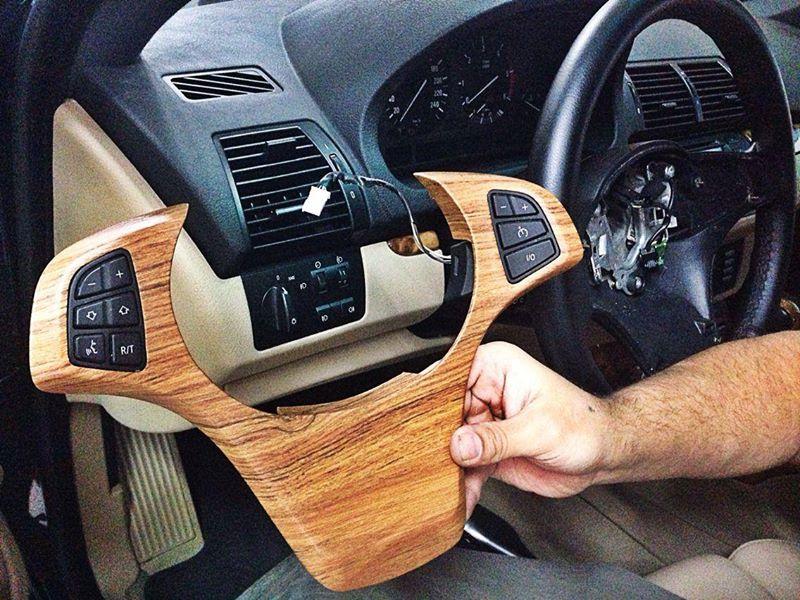 Vinilo madera para el interior del bmw x5 - Vinilos efecto madera ...