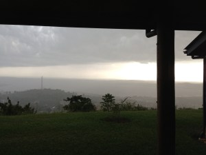 The rain on Wednesday over Lake Victoria