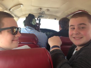 heading to Andros in the charter plane. It's really fun!