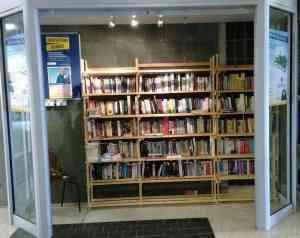 Book swap shelves