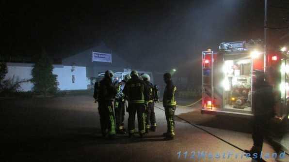 Brandweerlieden ter plaatse