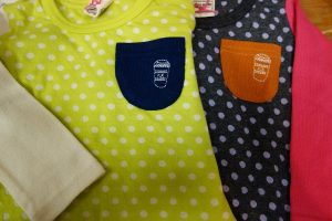 mother goose ドット切り替え Tシャツ ¥1900+税