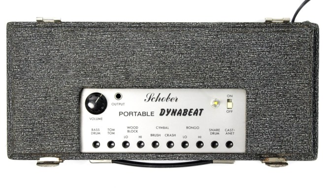 Schober Dynabeat, top view showing small percussion pads
