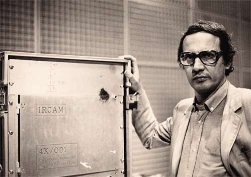 Giuseppe Di Giugno with the 4X at IRCAM