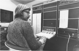 Barry Truax Working on a PDP-15 at the Institute of Sonology, 1973, on the POD system