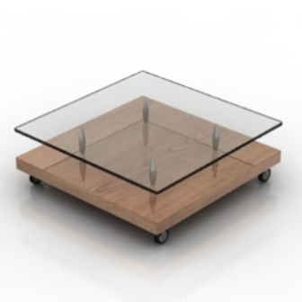 Floor Transparent Coffee Table Free 3dmax Model