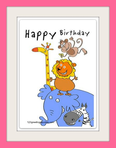 Amazing image with free printable birthday cards for kids