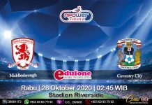 Prediksi Middlesbrough Vs Coventry City 28 Oktober 2020