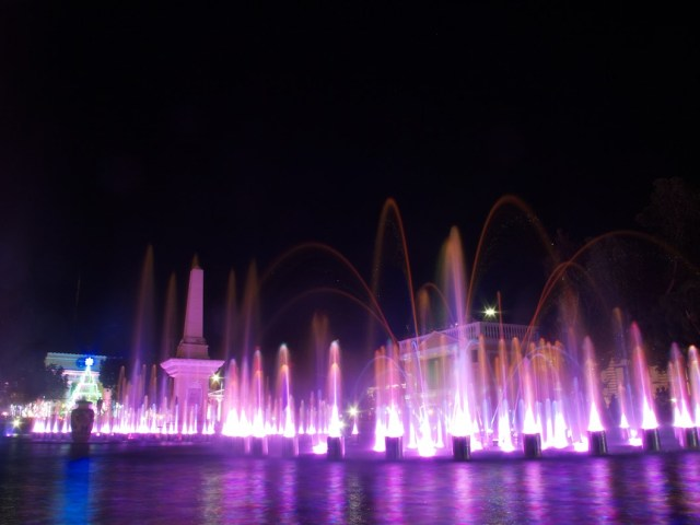 Dancing Fountain and Light Show at Plaza Salcedo