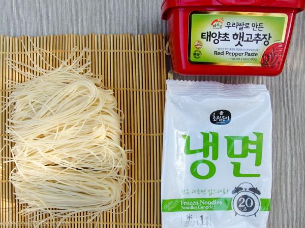 Bibim Naengmyeon noodles