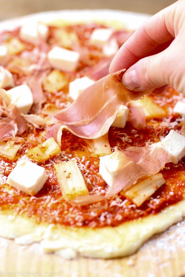 Kimchi Prosciutto Pizza prosciutto topping