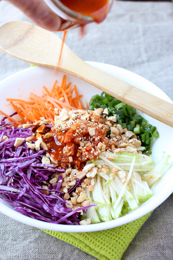Kimchi Slaw is light, refreshing, sweet, spicy, and crunchy. It's everything a refreshing side dish should be!