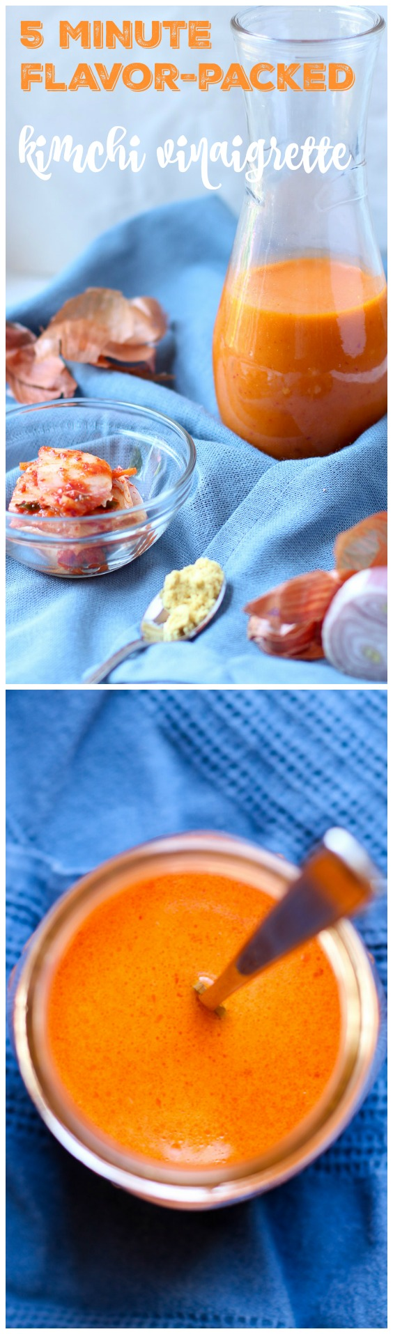 Kimchi Vinaigrette is versatile, flavor-packed, and simple to make! Kimchi juice adds a bright acidity that turns any boring salad into one that you'll crave. |www.kimchichick.com