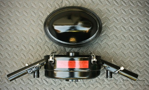 Restored Oil Bath Air Cleaner for '67 VW Beetle - Assembled