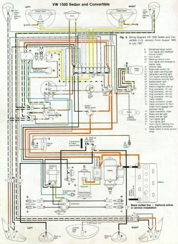 '66 and '67 VW Beetle Wiring Diagram | 1967 VW Beetle
