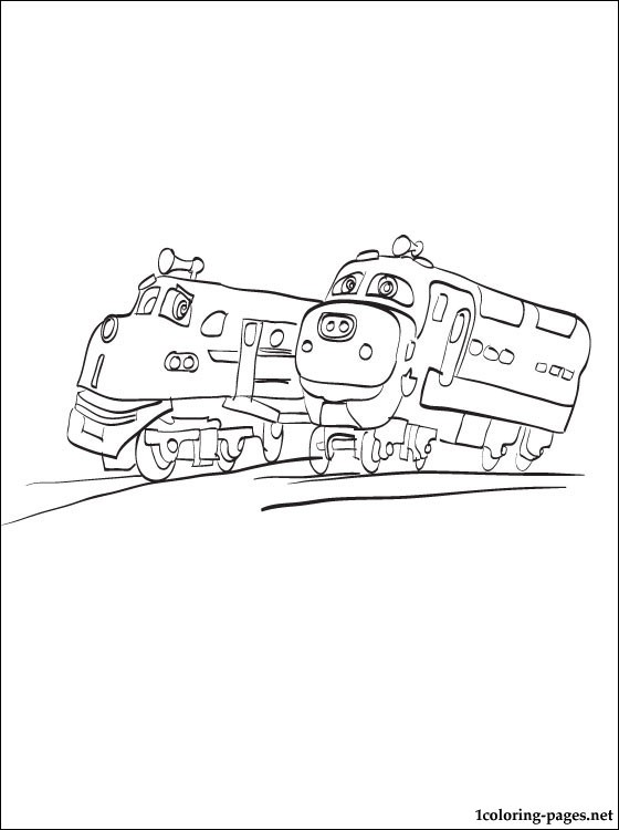 Chuggington Movies Wilson Brewster and Koko to Chuggington coloring page for children x
