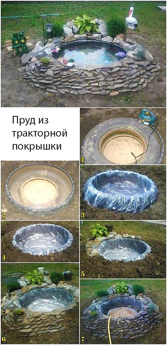 Как сделать фонтан из шин своими руками 776