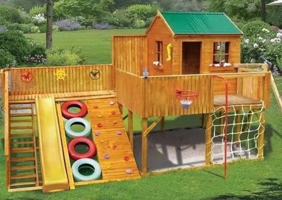 Идеи детских площадок для дачи своими руками 326