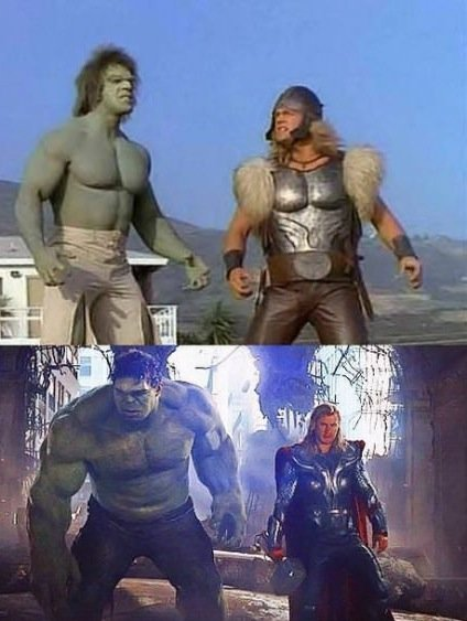 Hulk and Thor 34 years later