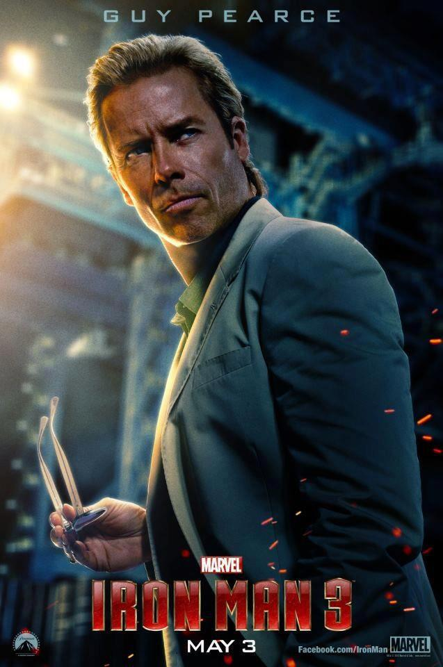 Guy Pearce gets his own Iron Man 3 poster.