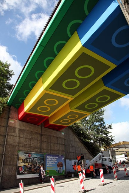 Crazy lego street art in Germany