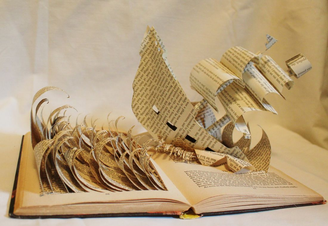 Rough sea ahead Captain ! Amazing Book Art