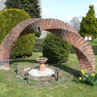 A brick arch