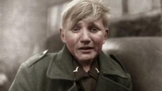 Hans-Georg Henke - 15 Year Old German Soldier colorized